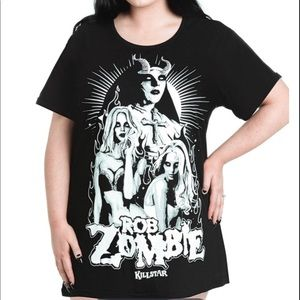 Killstar Rob Zombie Plus Size T shirt Dress